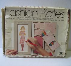 I so thought i was going to be the next great fashion designer. Project Runway here I come!  1970 FASHION PLATES for young clothing designers