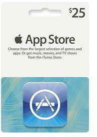 Apple® - $25 App Store Gift Card - new