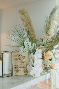 Coastal views, boho blooms and rattan wedding details everywhere you look... this New Jersey wedding inspiration is replete with inspiration for the modern bohemian bride. The neutral palette is enhanced with textural decor like dried palm fronds and wooden wedding signage, but the real star of the show is the bridal bouquet dripping with orchids and lunaria. See the full elopement inspiration on Ruffled now! #bohochicfashion #driedflowers #bohemianwedding #thewaveresort Rustic Wedding Inspiration, Elopement Inspiration, Destination Wedding Locations, Wedding Vendors, Bohemian Bride, Modern Bohemian, South African Weddings, Pretty Roses, Bride Accessories