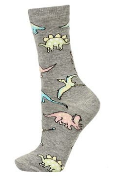 Topshop Pastel Dinosaur Pattern Ankle Socks available at #Nordstrom