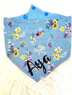 Floral Fantasy Bandana from Our Spring Collection. Matching Sailor Bow, Scrunchie, Lead, Collar and 2in1 Treat/Poo bags holder also available on our webiste or Etsy Shop. Dog Coats, Spring Collection, Scrunchies, Bandana, Sailor, My Etsy Shop, Kids Rugs, Bows, Fantasy