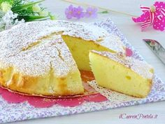 Cake Light, Plum Cake, Light Recipes, Ricotta, Camembert Cheese, Latte, Dairy, Food And Drink, Desserts