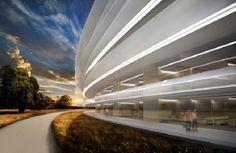 Dettaglio dell'Apple Space Campus a #Cupertino, futuro headquarter della multinazionale americana. #Apple