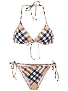 c4cf948c4b BURBERRY Women s Classic Camel Check Bikini Set Swimsuit