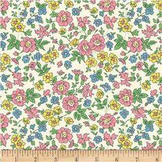 60'' Wide Quilt Backs Flower Garden Pink