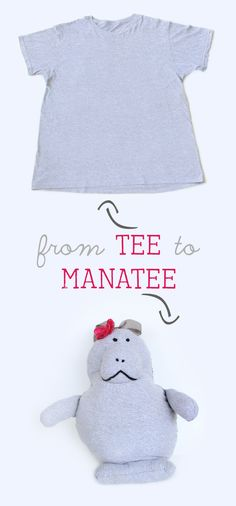 Up-cycle a Tee Shirt into a Manatee Pillow Pet (Tutorial & Pattern) - So ADORABLE!