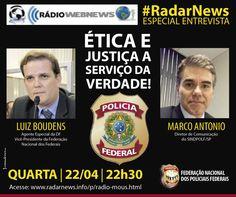 FENAPEF - Vice-presidente da Fenapef concede entrevista à Rádio Radar News, nesta quarta-feira