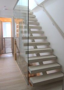 Loft Stairs Design, Pictures, Remodel, Decor and Ideas - page 4 Open Stairs, Glass Stairs, Metal Stairs, Concrete Stairs, Loft Stairs, Basement Stairs, House Stairs, Glass Walls, Basement Ideas