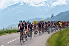 Team Sky lead the peloton during Stage 19 of the 2013 Tour de France