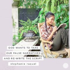 Our minds are often a spiritual battleground. We have a very real enemy who tries to capture our thoughts and bring us down with lies. But God wants to take our false narratives and re-write the script. He's given us divine power to take control of our thoughts through the power of His Spirit.  -Stephanie Raquel