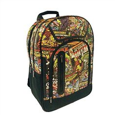 100 Authintic Comic Marvel back pack Big Leather Backpack Officially Licences Multi Characters Avengers Spiderman  Hulk  Ironman  4 Compartments >>> Check this awesome product by going to the link at the image.
