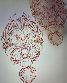No automatic alt text available. Lion Head Tattoos, Leg Tattoos, Sleeve Tattoos, Tattoo Sketches, Tattoo Drawings, Art Sketches, Lion Tattoo Design, Tattoo Designs, Egyptian Tattoo Sleeve