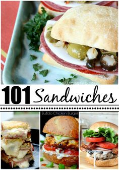 101 Amazing Sandwich Recipes - just wow.  S o many ideas!