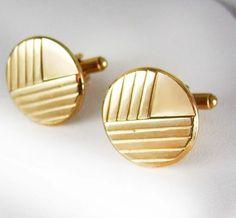 Vintage Rose Gold Filled Cufflinks Geometric by NeatstuffAntiques, $60.00