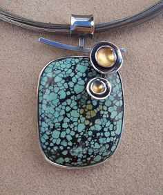 Tibetan Turquoise Pendant by Leslie Aine McKeown