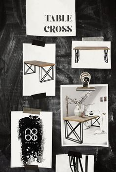 moodboard by nobo design Table CROSS www.nobodesign.eu