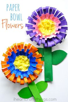 Bright and Colorful Flower Craft for Kids This bright and colorful paper bowl Flower Craft for kids is perfect for a spring kids craft or when learning all about flowers. The post Bright and Colorful Flower Craft for Kids appeared first on Easy flowers. Flower Crafts Kids, Paper Plate Crafts For Kids, Spring Crafts For Kids, Easy Crafts For Kids, Summer Crafts, Art For Kids, Paper Crafts, Spring Activities, Craft Activities For Kids