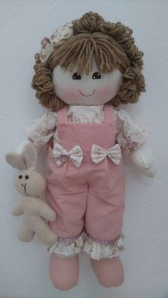 My Child Doll: ordering one as soon as we find out her hair Felt Fabric, Fabric Dolls, Doll Crafts, Diy Doll, Doll Clothes Patterns, Doll Patterns, Doll Toys, Baby Dolls, Baby Annabell