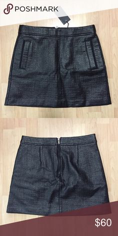 "NWT Armani Exchange Skirt - Size 6 NWT Armani Exchange Mini Skirt. Measures about 16"" long. No defects or flaws. Never worn! Armani Exchange Skirts Mini"