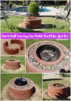 How to Build Your Very Own Mobile Fire Pit for Just $50 #diy, #outdoor, #firepit