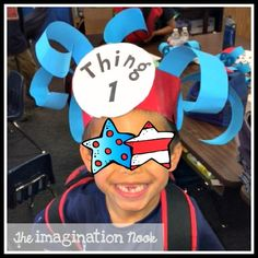 Dr. Seuss - Thing 1 hat. Grab the button from my blog.