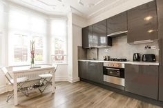 contemporary compact kitchen