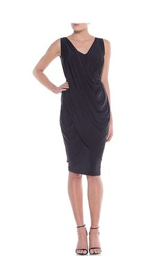 Grecian dress Black party and Formal dresses on Pinterest