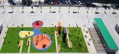 Estudio Cano Lasso Arquitectos — Espacio publico de la Romareda y aparcamiento subterraneo