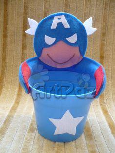 Centro de mesa Super Heróis - Liga da Justiça - ArtPaz by Tania Paz