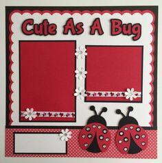 Handmade Premade 12x12 Cute As A Bug Ladybug by JuliesPaperCrafts