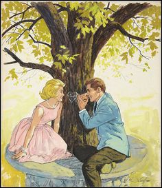 Romance Illustration by Sarnoff. Jm.