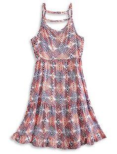 Mixed Diamond Print Dress | Lucky Brand