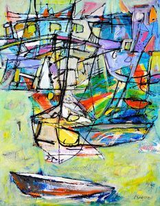 Christy Sverre paints inspiring and unique semi-abstracts. Her art is found in private collections in Canada, United States, Norway, France and Singapore. Rain Catcher, Nautical Art, Canvas, Abstract, Comme, Painting, Orange, Tela, Painting Art