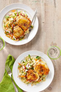 Salt-and-Pepper Chicken with Spring Quinoa Pilaf