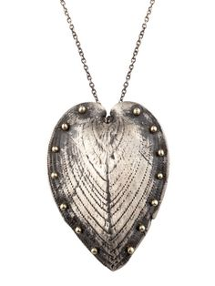 GOLD AND SILVER CARDISSIUM HEART NECKLACE by Lauren Wolf Jewelry on Gilt.com #GiftMe