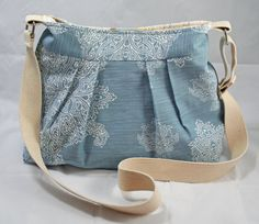 SALE  Spring Summer  Cotton/Linen Pleated Purse by SewMuchCuteness, $40.00
