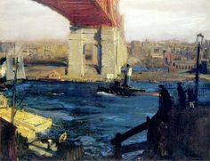 George Bellows (1882 - 1925). The Bridge, Blackwell's Island, 1909. Oil on Canvas. 86.5 x 111.9 cm.