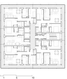 Viviendas Sociales en Boera Park / Peñín Architects + OAB + Edifica,Planta 02