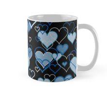 Blue harts pattern Mug