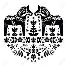 Image result for scandinavian folk art horse