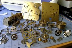 Mini-Project: Cannibalizing a Clock Movement for Parts by Steam Ingenious