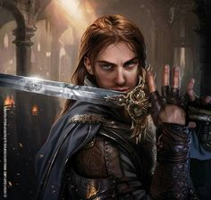 Gondorian Warrior, an art print by Magali Villeneuve - INPRNT Fantasy Male, High Fantasy, Fantasy Warrior, Fantasy Rpg, Medieval Fantasy, Fantasy Artwork, Fantasy Heroes, Fantasy Fiction, Epic Characters