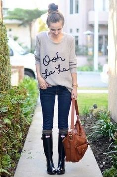 Ooh La La sweater, skinnies, boots