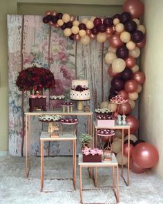 Ideas Birthday Balloons Adult Baby Shower For 2019 Bridal Shower Decorations, Balloon Decorations, Birthday Party Decorations, Wedding Decorations, Birthday Parties, Balloon Garland, Candy Table, Dessert Table, Decoration Buffet