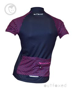 #Dotty - Outfoxed womens jersey Simple but different. Sometimes less is more. Let your wheels do the talking. Ladies cycling clothing for all personalities. www.outfoxedwomenscycling.co.uk