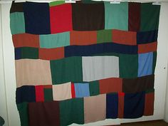 African American Abstract Bars Quilt Top Handmade 74 by 90 Inches | eBay  Gees Bend has ruined quilting forever.  Now anyone than has an ugly old quilt to sell thinks that if they call it African American, it will be worth a bunch of money.  Really?  Do they think people are that stupid?  Think Emperor's New Clothes - just sayin'.
