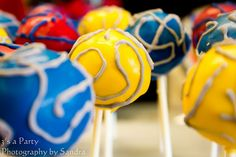 Transformers Birthday Party cake pops - Kara's Party Ideas - The Place for All Things Party