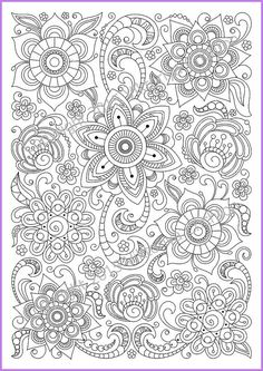 Flower Abstract Doodle Zentangle Coloring pages colouring adult detailed advanced printable Kleuren voor volwassenen coloriage pour adulte anti-stress kleurplaat voor volwassenen Coloring page PDF adults and children printable by ZentangleHouse