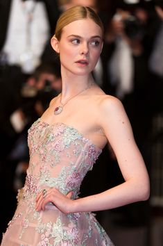 Elle Fanning attends the 'The Neon Demon' premiere at the 69th annual Cannes Film Festival [May 20th, 2016]
