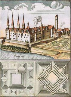 Pl. 16. Castellum Merseburgense in Misnia. Architectura Curiosa Nova. Georg Andreas Boeckler, Georg Andreas Böckler.
